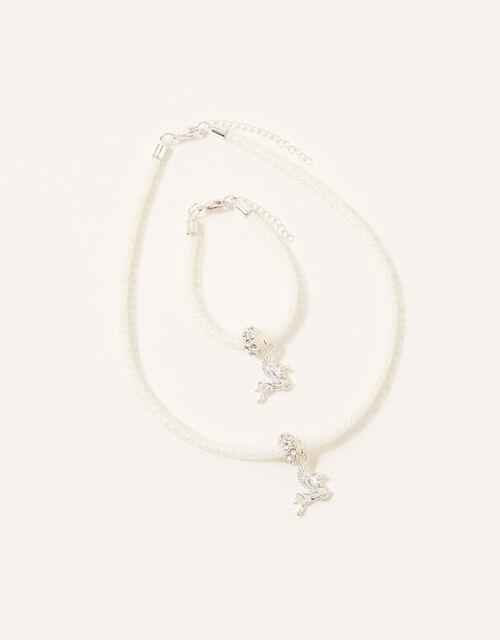 Sparkle Encased Unicorn Jewellery Set, , large