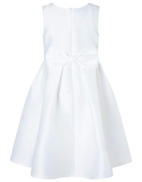 Corsage Belt Hi-Low Dress, Ivory (IVORY), large