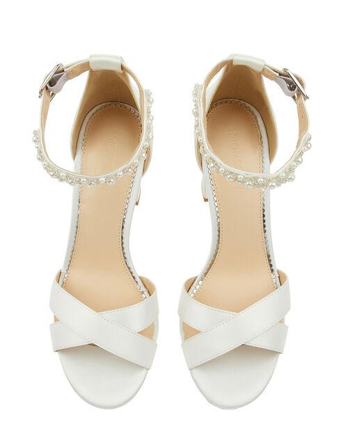 Farah Embellished Bridal Sandals, Ivory (IVORY), large