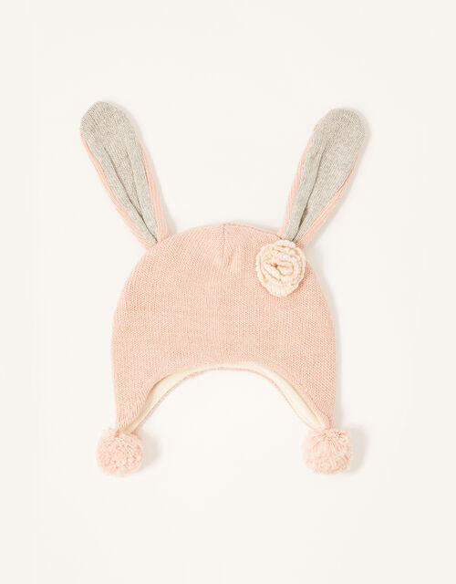 Baby Ellie Floppy Bunny Hat, Pink (PINK), large