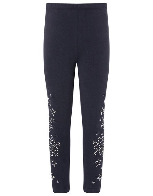 Embellished Snowflake Leggings, , large