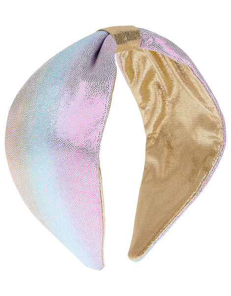 Reversible Shimmer Knot Headband, , large