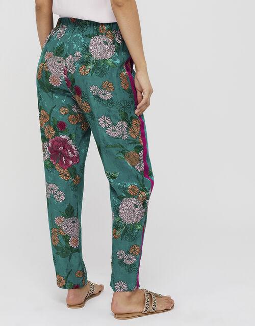 Ola Oriental Print Trousers, Teal (TEAL), large