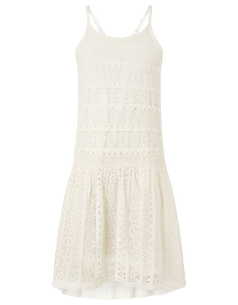 Cutwork Lace Dress Ivory, Ivory (IVORY), large