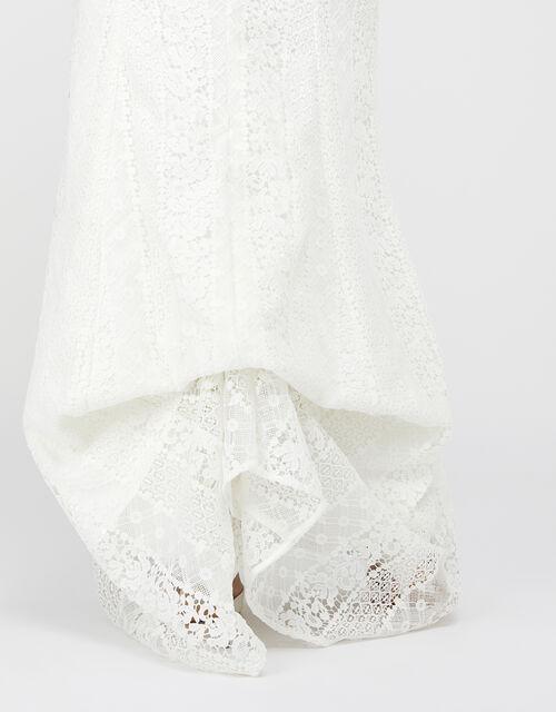 Nellie Floral Lace Bridal Dress, Ivory (IVORY), large