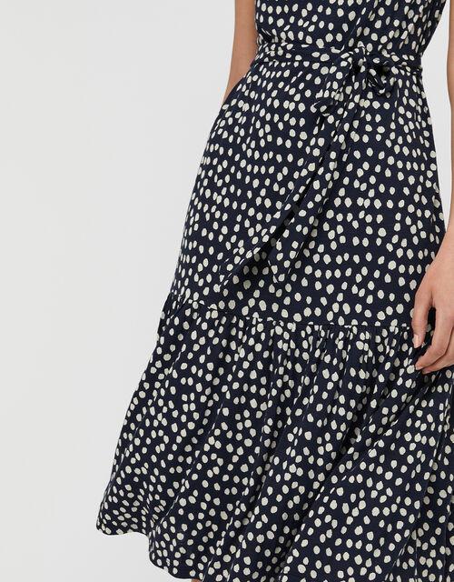 Serenity Spot Print Jersey Midi Dress, Blue (NAVY), large