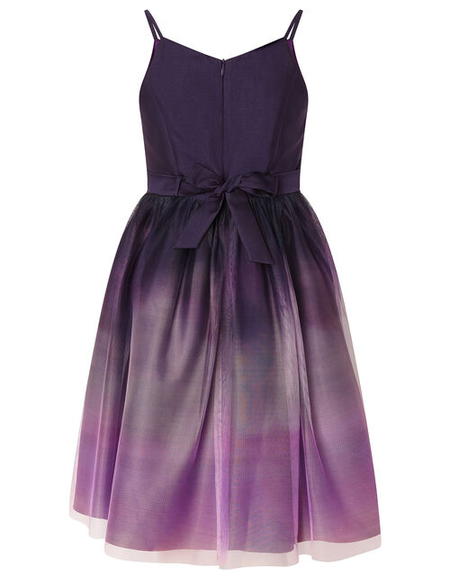 Ombre Skirt Prom Dress, Purple (PLUM), large