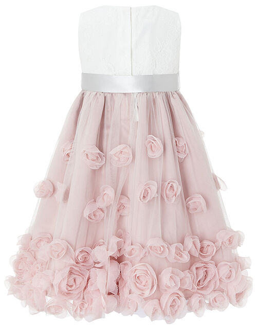 Baby Ianthe Floral Occasion Dress, Pink (DUSKY PINK), large