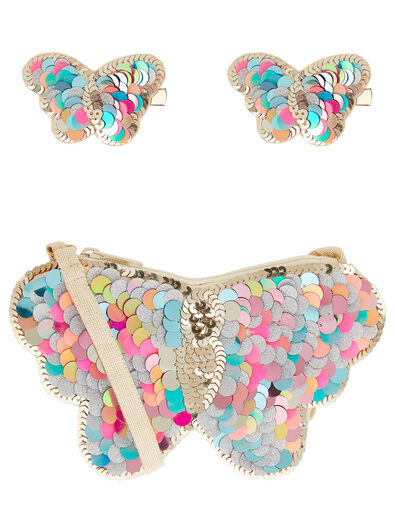 Flutter Sequin Butterfly Accessory Set, , large
