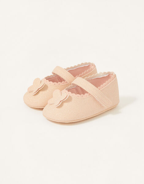 Shimmer Butterfly Booties Pink, Pink (PINK), large