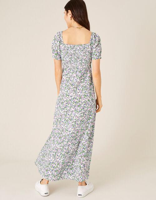 Ditsy Sweetheart Dress with Sustainable Viscose , Ivory (IVORY), large