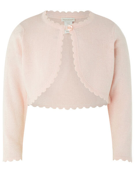 Baby Niamh Sparkle Knit Cardigan Pink, Pink (PINK), large
