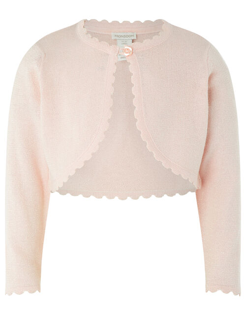 Baby Niamh Sparkle Knit Cardigan, Pink (PINK), large