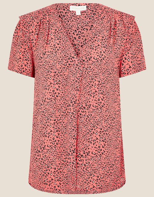 Angela Animal Print Top , Pink (PINK), large
