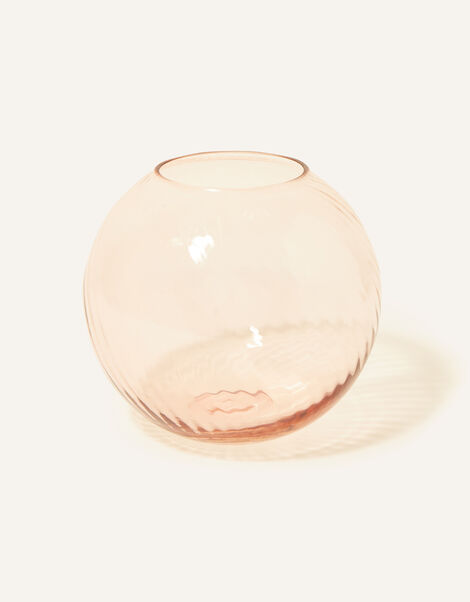 Sphere Ridge Glass Vase, , large