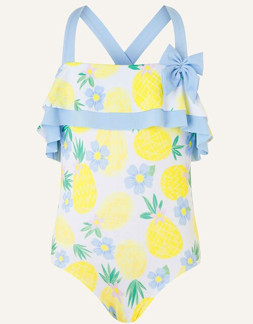 Pineapple Frill Swimsuit, Yellow (YELLOW), large