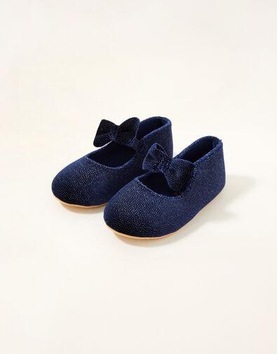 Velvet Walker Shoes Blue, Blue (NAVY), large