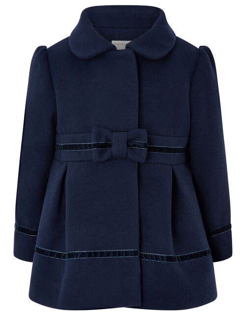 Baby Bow Coat, Blue (NAVY), large