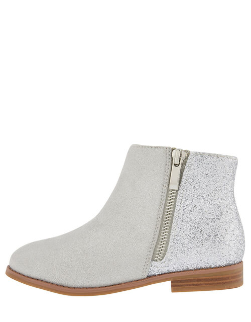 Lainey Glitter Ankle Boots, Grey (GREY), large