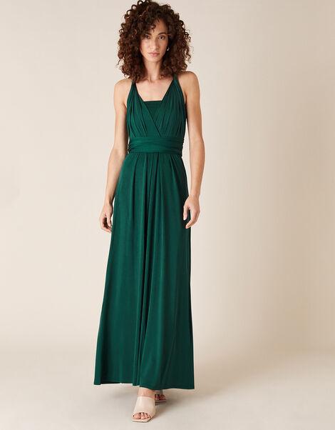 Tallulah Twist Me Tie Me Jersey Bridesmaid Dress Green, Green (GREEN), large