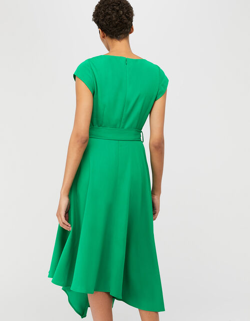 Francoise Asymmetric Fit and Flare Dress, Green, large