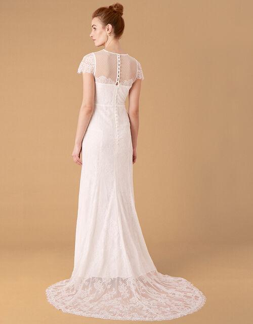 Rebecca Chantilly Lace Bridal Dress, Ivory (IVORY), large