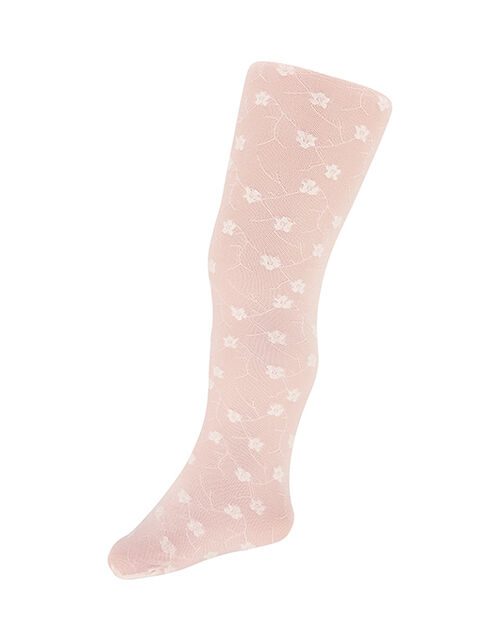 Baby Rosebud Tights, Pink (PINK), large