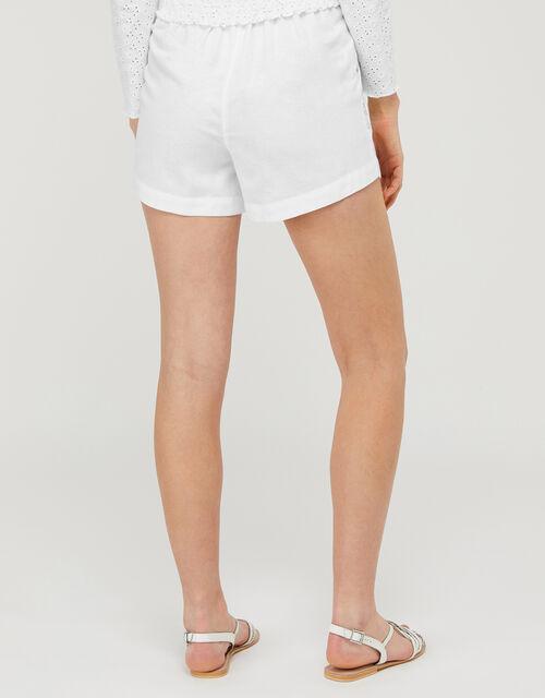 Dani Shorts with Metallic Embroidery, White (WHITE), large