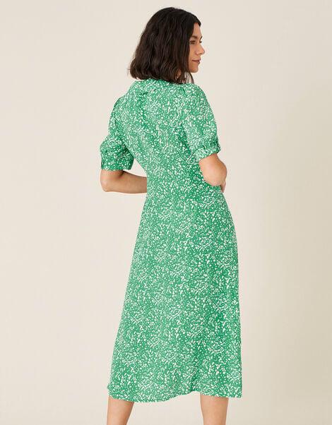 Leila Printed Midi Dress  Green, Green (GREEN), large