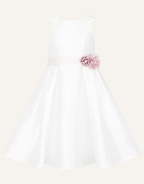 Audrey Duchess Twill Bridesmaid Dress Ivory, Ivory (IVORY), large