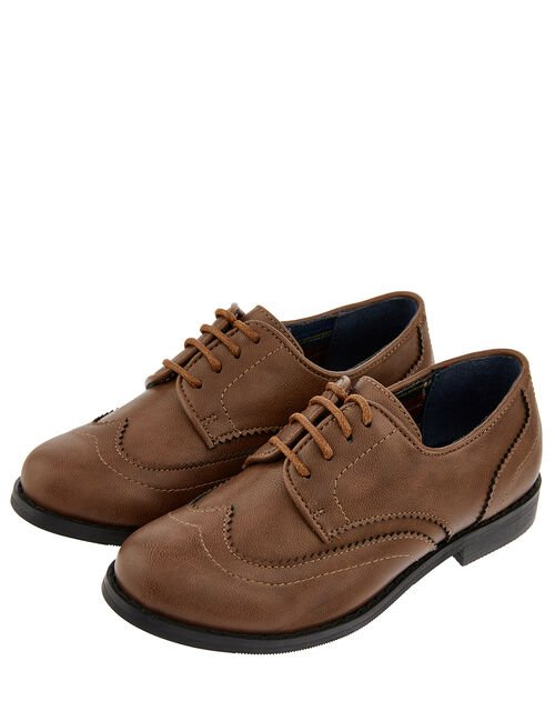 Boys' Oxford Brogue Shoes, Brown (BROWN), large