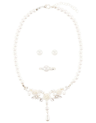 Hayley Pearl Rose Jewellery Set , , large
