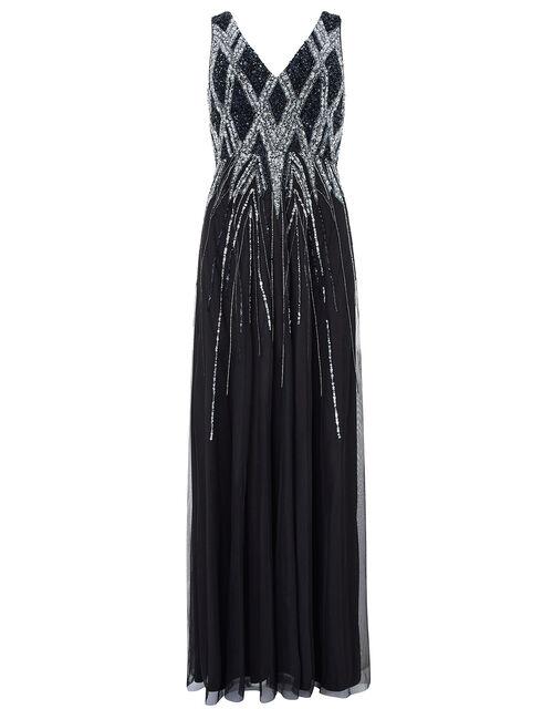 Marnie Embellished Maxi Dress, Black (BLACK), large