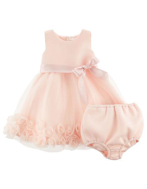 Newborn 3D Flower Dress Set  Pink, Pink (PINK), large