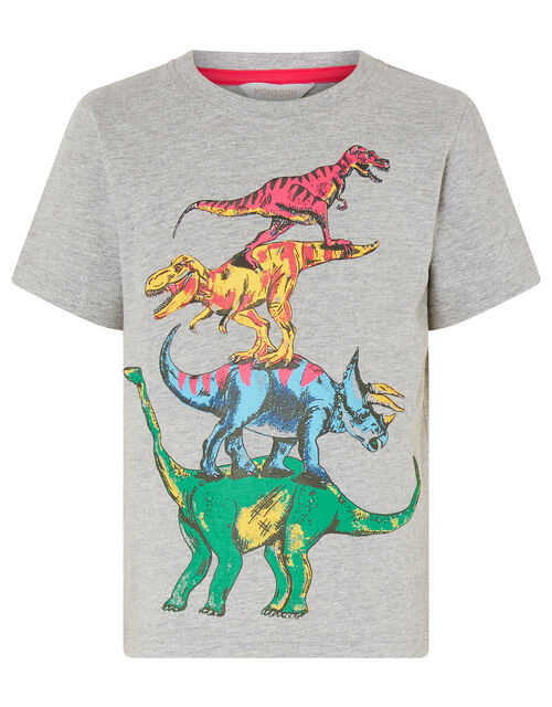 Rufus Dinosaur T-shirt, Grey (GREY), large