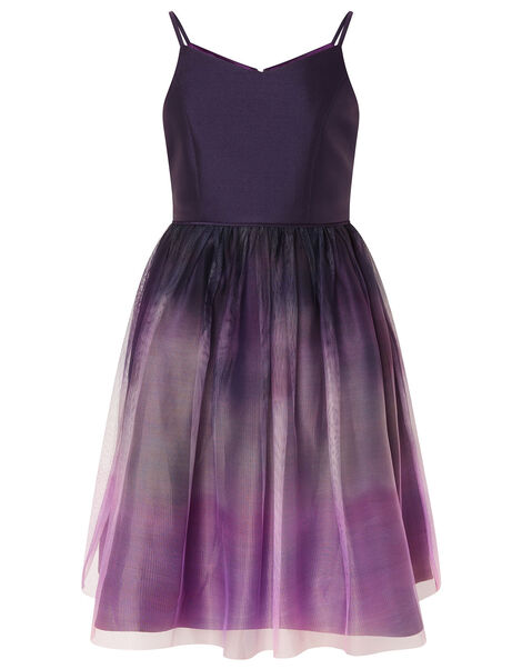 Ombre Skirt Prom Dress Purple, Purple (PLUM), large