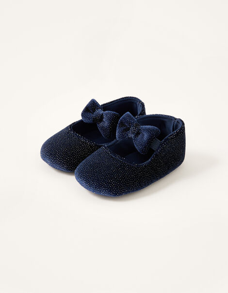 Shimmer Velvet Booties Blue, Blue (NAVY), large