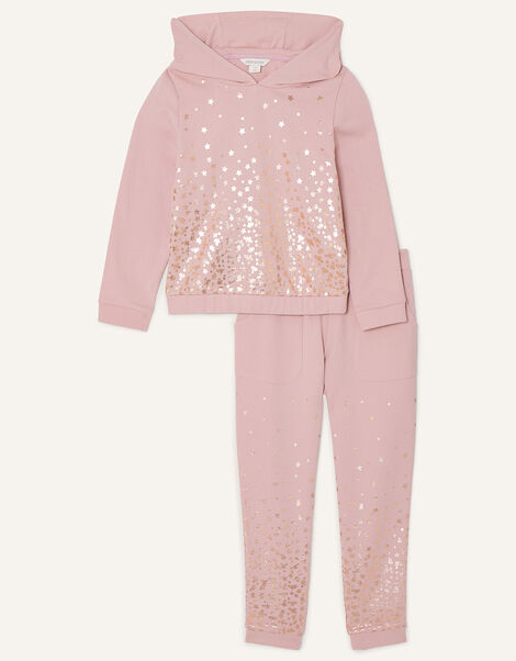 Foil Star Hoody and Joggers Set Nude, Nude (NUDE), large