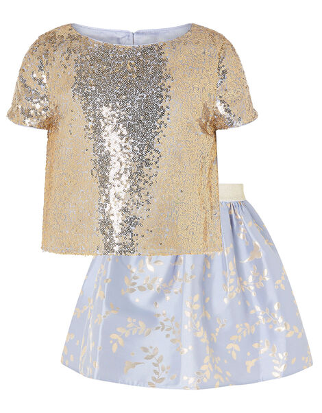 Sadie Sequin and Jacquard Set Blue, Blue (PALE BLUE), large