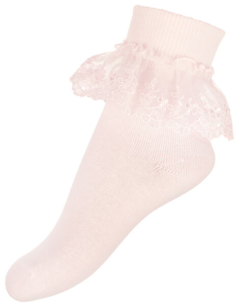 Poppy Lace Sock Pack Pink, Pink (PINK), large