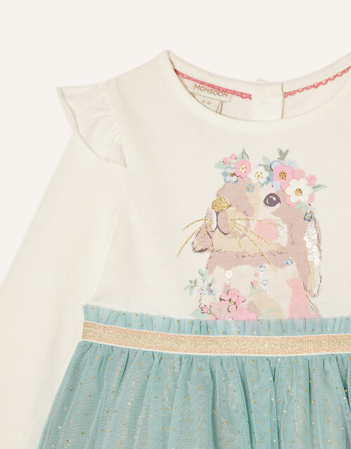 Baby Bunny Disco Dress, Blue (AQUA), large