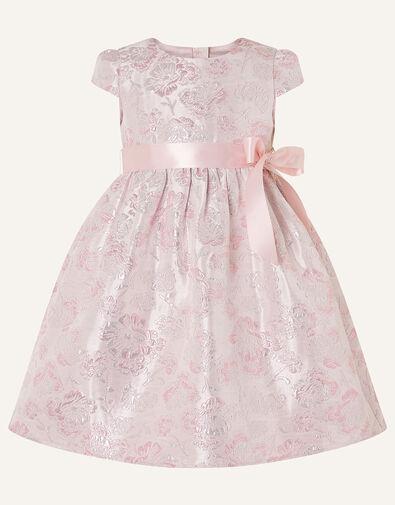 Baby Jacquard Cap Sleeve Dress Pink, Pink (PINK), large