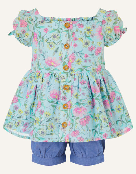 Baby Floral Top and Shorts Set Green, Green (GREEN), large