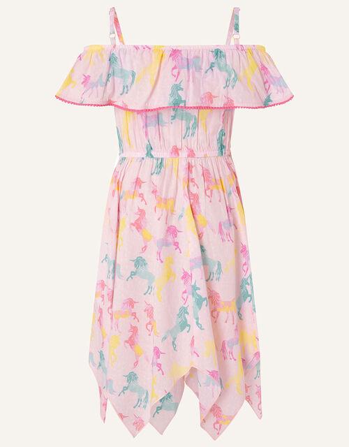 Misty Unicorn Dress in Organic Cotton , Pink (PALE PINK), large
