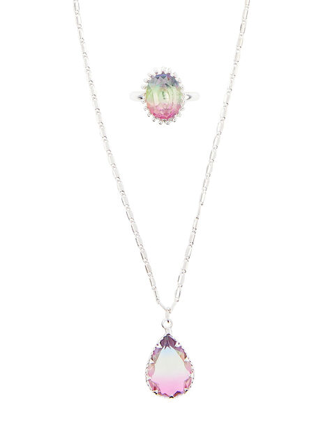 Rainbow Gem Jewellery Set, , large