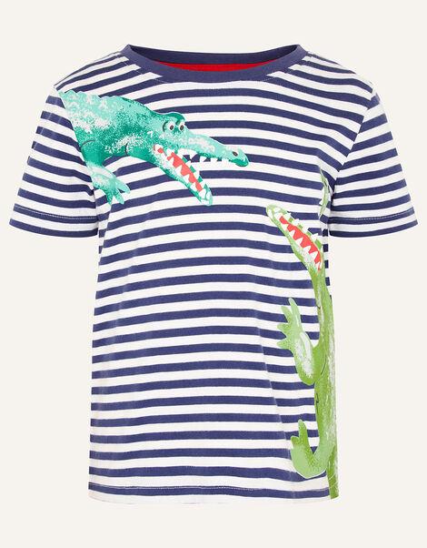 Croc Stripe T-Shirt  Blue, Blue (NAVY), large
