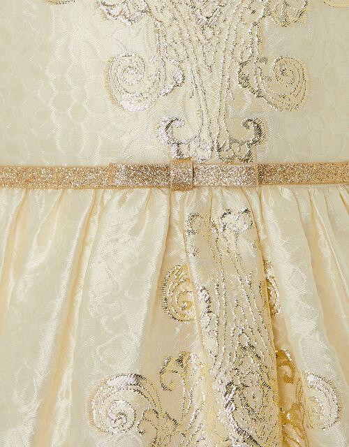 Jacquard High-Low Dress, Gold (GOLD), large