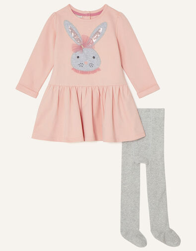 Baby Bunny Dress and Tights Set Pink, Pink (PINK), large