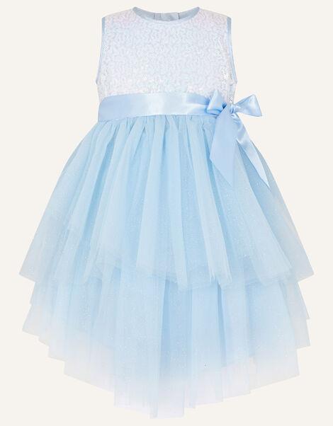 Baby Safire Sequin Tulle Dress Blue, Blue (BLUE), large