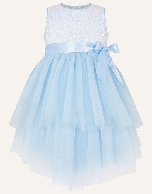 Baby Safire Sequin Tulle Dress, Blue (BLUE), large